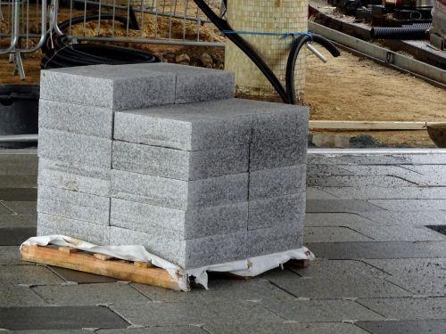 Construction Site Paving Stones