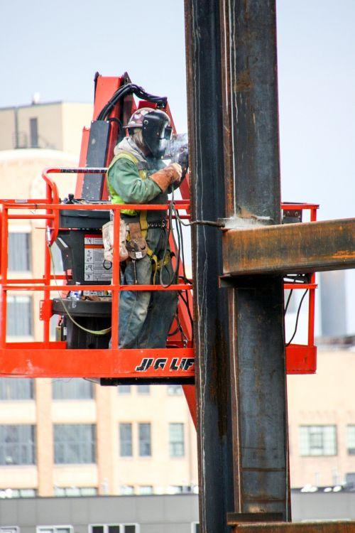 construction worker welder industrial