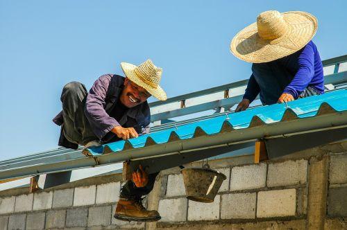 construction workers roofers men