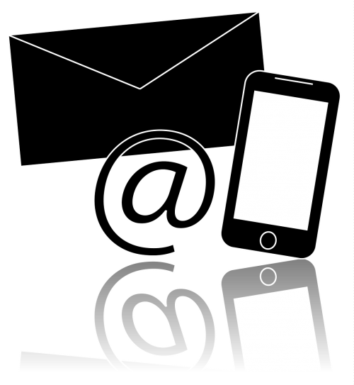 contact mobile phone envelope