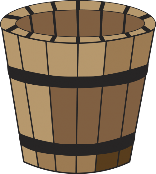 container wood pail