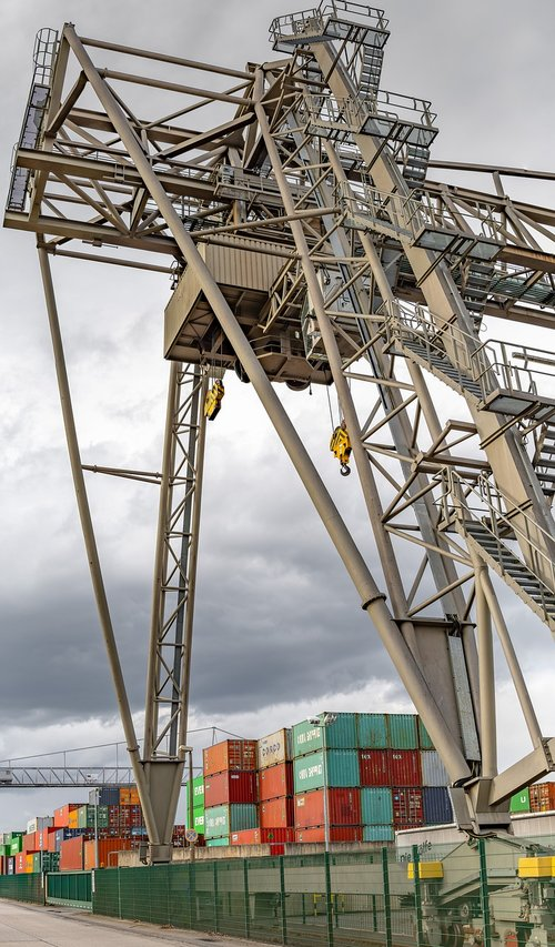 container port  crane  industry