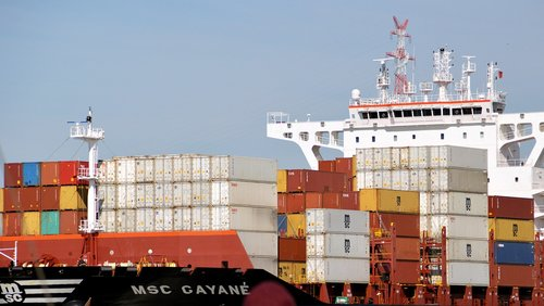 container ship  seafaring  transport