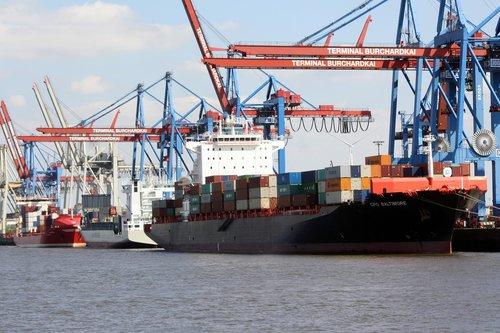 container ship  eurokai  hamburg