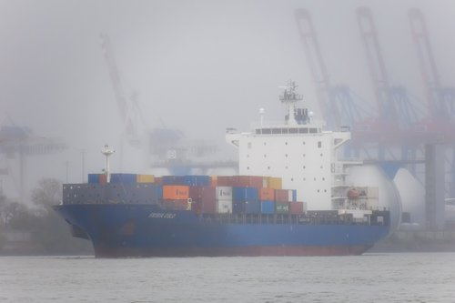 container ship  ship  cranes