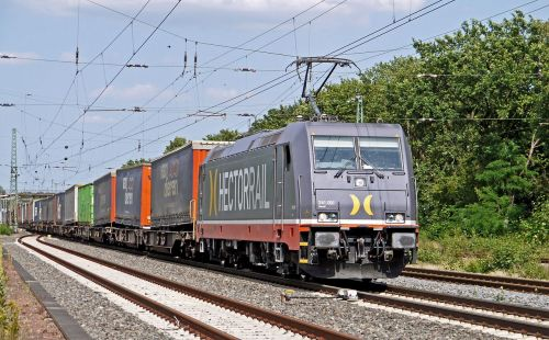 container train electric locomotive hectorrail