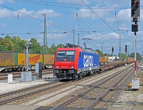 container train  international  through-freight train