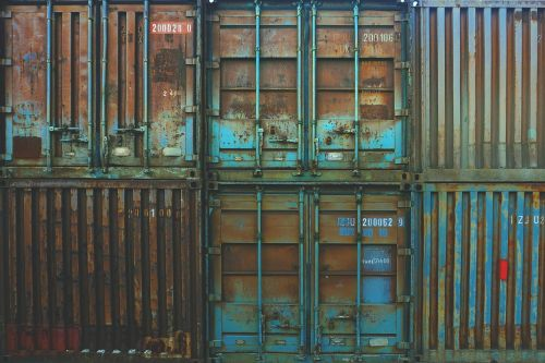 containers storage rusted