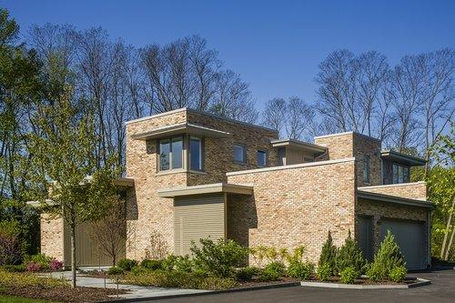 contemporary  residence  brick