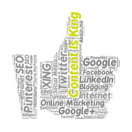 content is king online marketing google