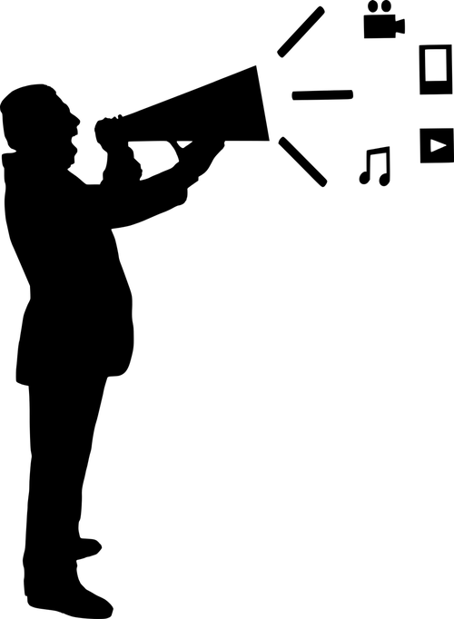 content marketing  silhouette  media
