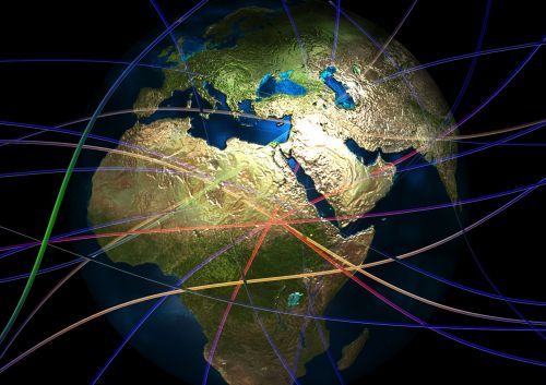 continents globe connectedness