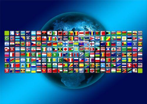 continents flags symbols