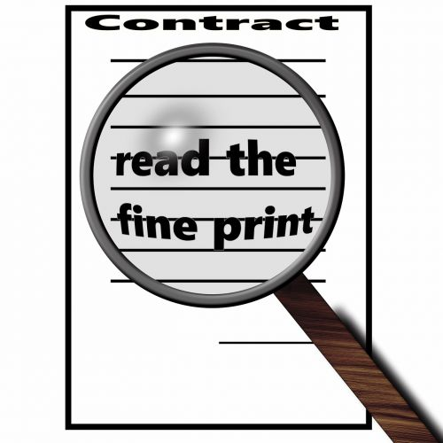 contract small print magnifying glass