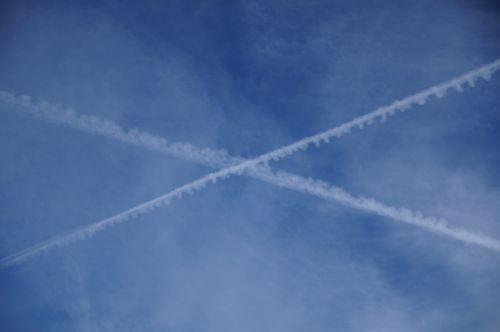 contrail sky cross