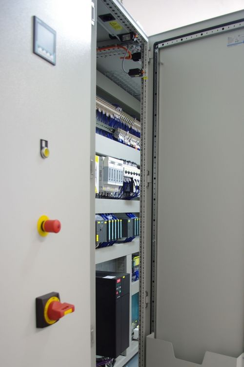control cabinet electrically switch