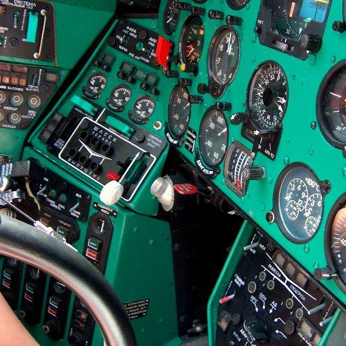 control panel cockpit instrument