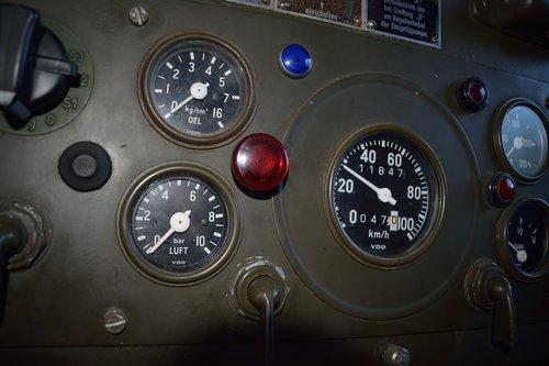 control panel  motor control center  gauge