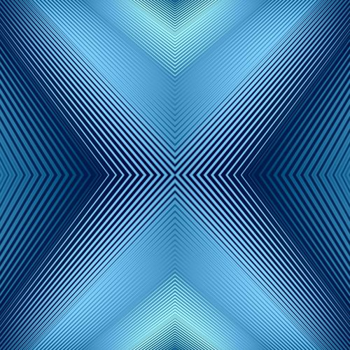 converging lines blue