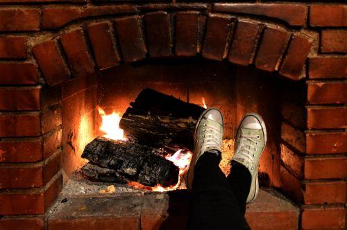 fireplace chill feet