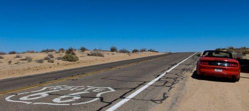 convertible route 66 desert