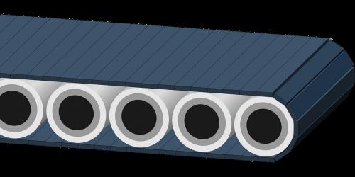 conveyor belt rolling