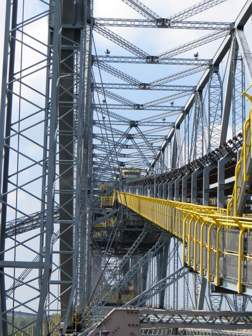 conveyor bridge partial view boom