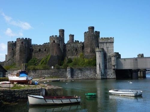 conwy castle  wales  medieval