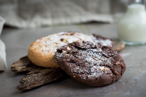 cookies chocolate cookie nut cookie