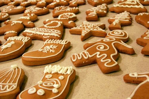 cookies gingerbread shapes