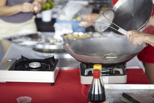 cooking food asian