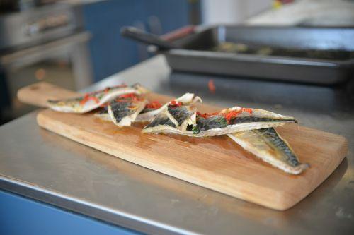cooking fish kitchen