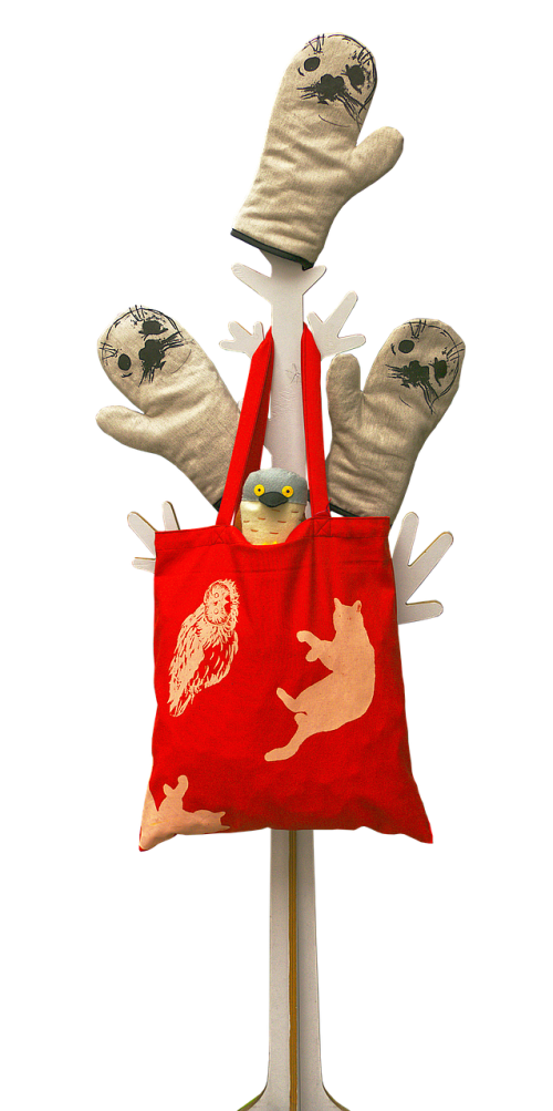 cooking glove cloth bag stand