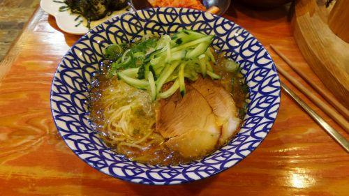 cold ramen cold noodles meat noodle