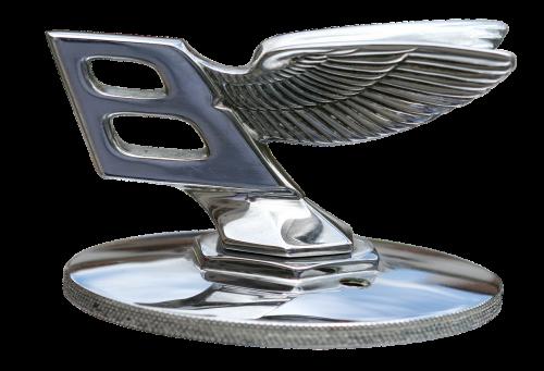 cool figure silver bentley