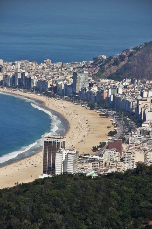 copacabana view from sugarloaf rio de janeiro