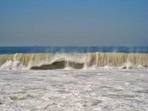 copacabana raging waves rio de janeiro