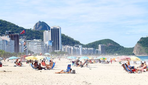 copacabana  rio de janeiro  brazil