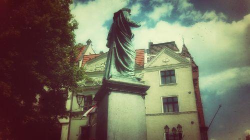 copernicus, paminklas, bėgti, Lenkija, Senamiestis, senamiestis, miestas, istorija, architektūra