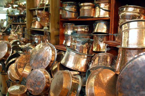 copper tableware antiques