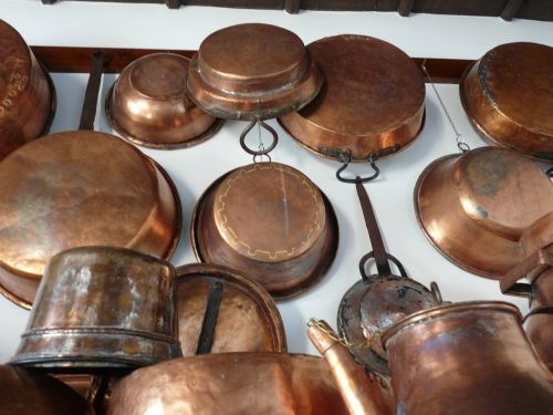 copper pans boiler