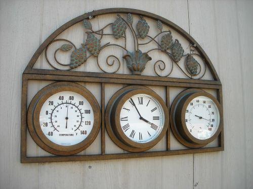 copper temperature clock