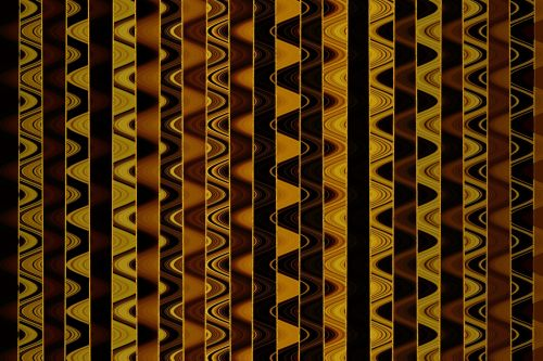 Copper And Yellow Bands And Waves
