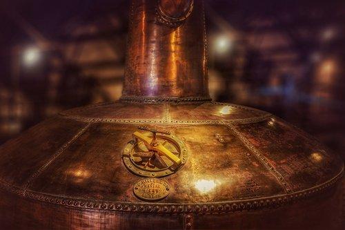 copper boiler  distillery  whisky