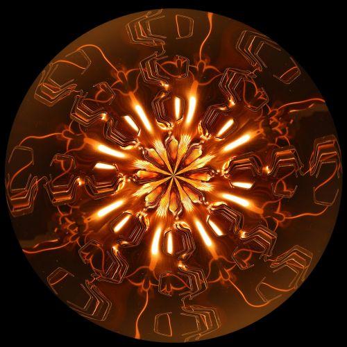 copper color light lichtspiel