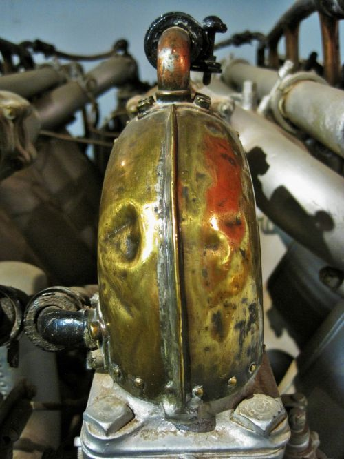 Copper Pipe On Rolls Royce Eagle 8