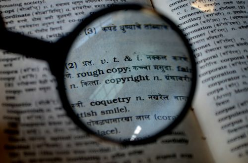 copyright magnifier magnifying glass