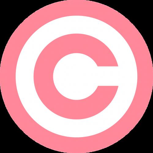 copyright symbol pink