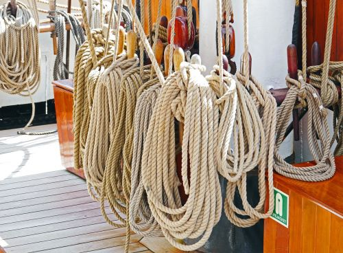 cordage tall ship canvas