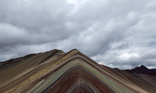 cordillera de vilcanota  rainbow  mountains